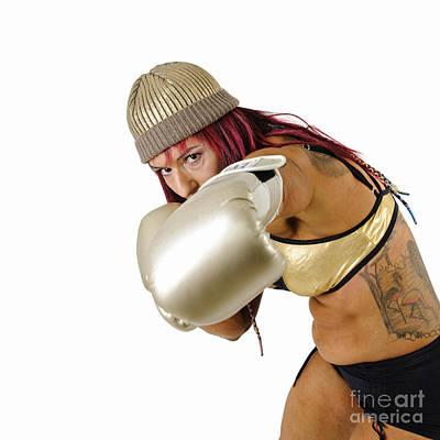 Female Kick Boxer 4 Print by Ilan Rosen