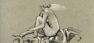 Female Nude Study Print by Juan  Bosco