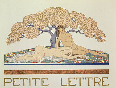 Sleepy Painting - Female Nudes by Georges Barbier