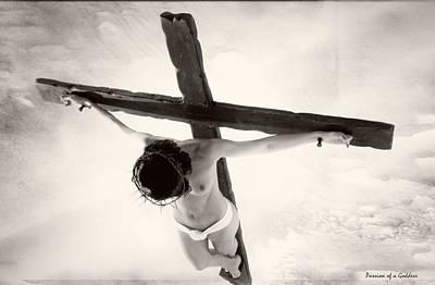 Crucified Photograph - Femme En Croix I by Ramon Martinez