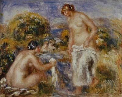 Pierre-auguste Renoir Painting - Femmes Au Bain by Pierre-Auguste Renoir