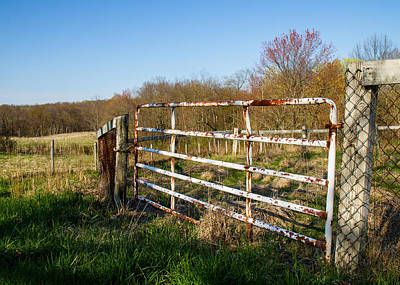 Wetmore Photograph - Fence And View by Tim Fitzwater