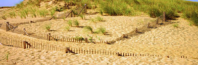 Cape Cod Photograph - Fence On The Beach, Cape Cod by Panoramic Images