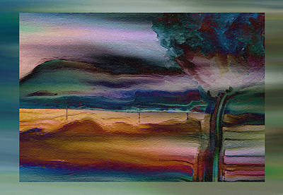 Fences In The Mist Print by Lenore Senior
