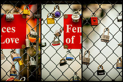 Trio Photograph - Fences Of Love by Karol Livote