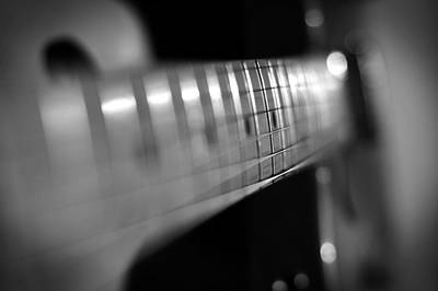 Music Photograph - Fender Fret by Mark Rogan