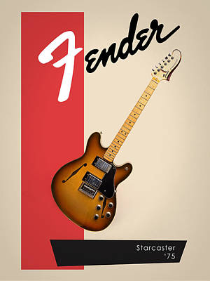 Guitar Photograph - Fender Starcaster 75 by Mark Rogan