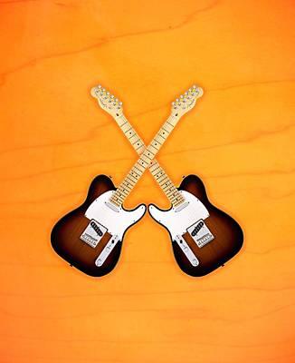 Fender Telecaster Sunburst Print by Doron Mafdoos