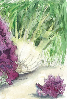 Lettuce Painting - Fennel And Friend by Maria Hunt