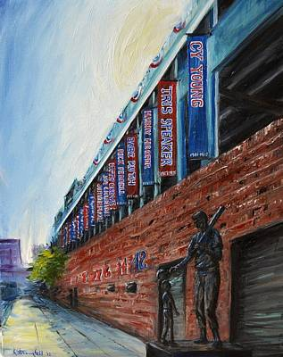 Baseball Painting - Fenway Boston by Karen Strangfeld