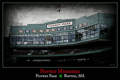 S Pole Photograph - Fenway Memories - Clover Edition by Stephen Stookey