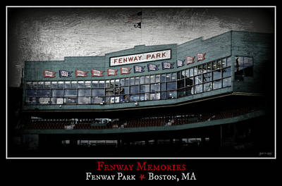 S Pole Photograph - Fenway Memories - Poster 1 by Stephen Stookey