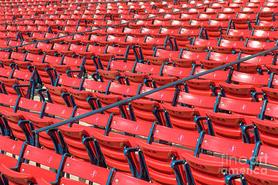 Boston Red Sox Photograph - Fenway Park Grandstand Seats I by Clarence Holmes