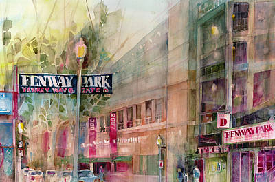 Baseball Parks Painting - Fenway Park Home Of The World Champs Red Sox by Dorrie Rifkin