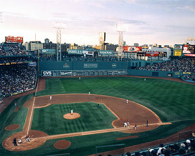 Boston Red Sox Photograph - Fenway Park Photo - Inside View by Horsch Gallery