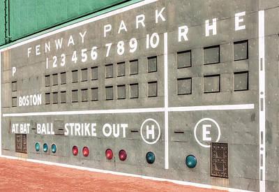 Susan Photograph - Fenway Park Scoreboard by Susan Candelario