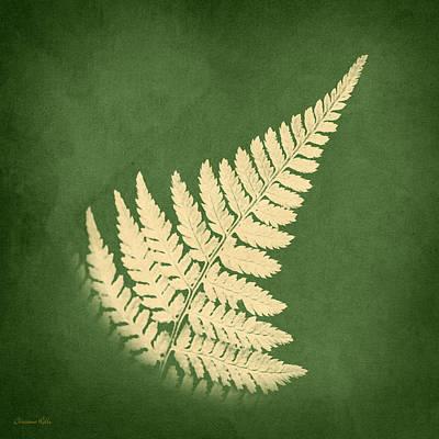 Digital Art - Fern Leaf Square by Christina Rollo