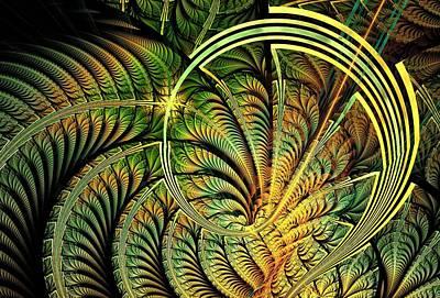 Plants Digital Art - Fern Loop by Anastasiya Malakhova