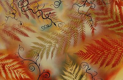 Contemplative Mixed Media - Ferns by Holly Smith
