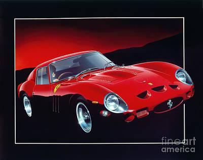 Drive Digital Art - Ferrari 250 Gto by Gavin Macloud