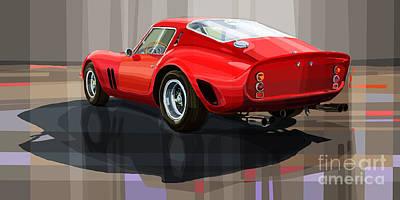 Ferrari 250 Gto Print by Yuriy Shevchuk