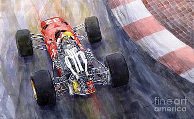 Ferrari 312 F1 1967 Print by Yuriy Shevchuk