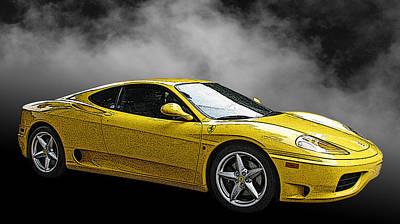 Ferrari 360 Modena Side View Print by Samuel Sheats