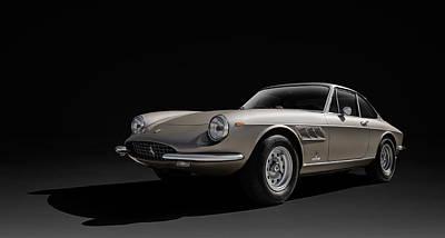 Sports Digital Art - Ferrari 365 by Douglas Pittman