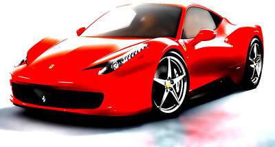 Australian Open Mixed Media - Ferrari 458 by Brian Reaves
