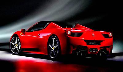 Australian Open Mixed Media - Ferrari 458 Spider by Brian Reaves