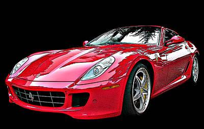 Ferrari 599 Gtb Fiorano Print by Samuel Sheats