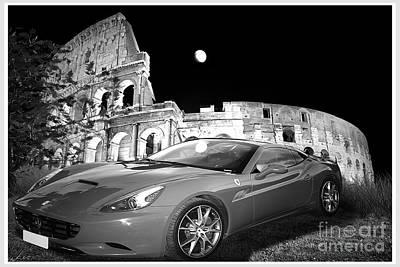 Ferrari In Rome Original by Stefano Senise