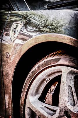 Ferrari Side Emblem -0488ac Print by Jill Reger
