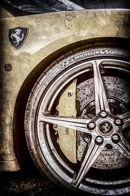 Ferrari Side Emblem - Wheel Emblem -0183ac Print by Jill Reger