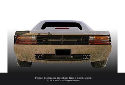 Ferrari Testarossa Deopham Green Bomb Dump Original by Jan W Faul