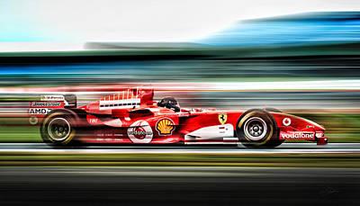 Champion Digital Art - Ferrari Unbridled by Peter Chilelli