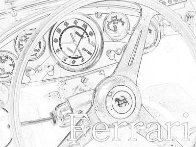 Ferrari Watercolor Photograph - Ferrari Wheel by Gennaro Orlando