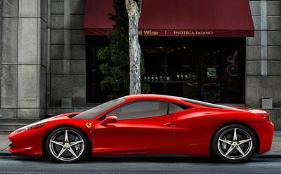 Automotive.digital Digital Art - Ferrari Wine Run by Peter Chilelli