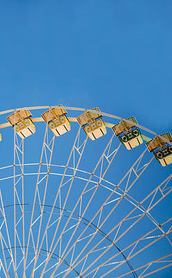 Ferris Wheel 2 Print by Rebecca Cozart
