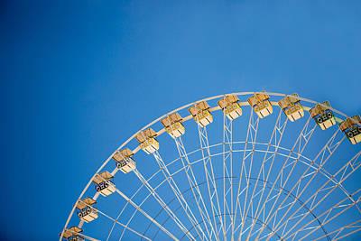 Ferris Wheel 3 Print by Rebecca Cozart