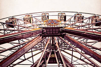 Ferris Wheel In Color Print by Andy Crawford