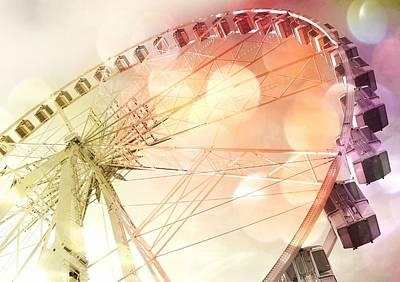 Ferris Wheel In Paris Print by Marianna Mills