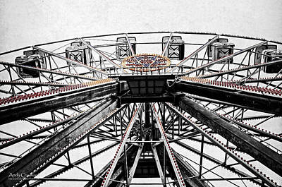 Ferris Wheel Lights Print by Andy Crawford