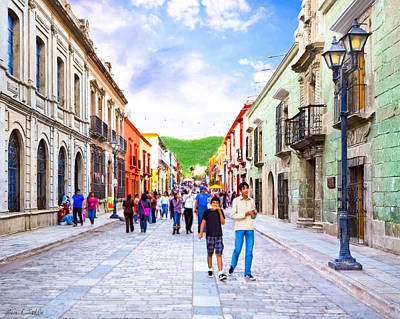 Oaxacan Photograph - Festive Afternoon In Oaxaca - Historic Mexico by Mark E Tisdale