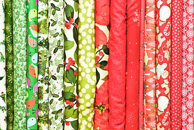 Floral Fabric Photograph - Festive Fabric by Tom Gowanlock