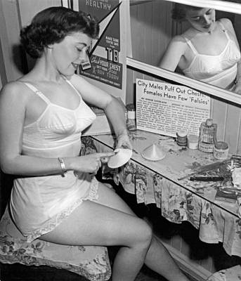 Dressing Photograph - Fewer Falsies For Cleveland by Underwood Archives