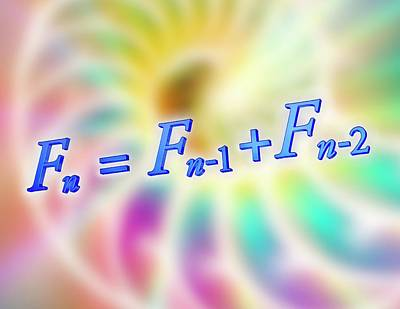 Rations Photograph - Fibonacci Sequence Equation by Alfred Pasieka