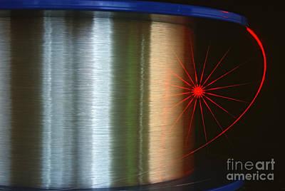 Fiber Glass Photograph - Fibre Optic Coil by James L. Amos