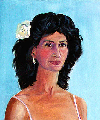 Dangle Earrings Painting - Fiction Writer And Samba Dancer by Asha Carolyn Young