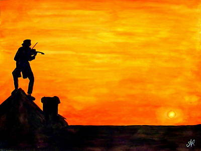 Fiddler On The Roof Painting - Fiddler On The Roof by Nieve Andrea
